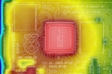 CPUを中心としたラズパイ4のサーモグラフィ