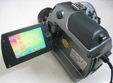 ラズパイ4を撮影している赤外線サーモグラフィカメラ
